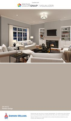 I found this color with ColorSnap® Visualizer for iPhone by Sherwin-Williams: Perfect Greige (SW 6073).