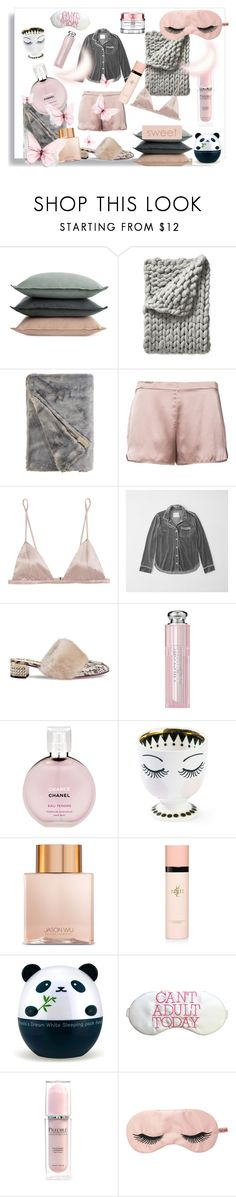 """Day Dreams"" by melanie-lamoureux ❤ liked on Polyvore featuring Design Within Reach, Serena & Lily, Fleur du Mal, Abercrombie & Fitch, Gucci, Christian Dior, Chanel, Miss Étoile, Jason Wu and Yves Saint Laurent"