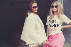 Models Vita Sidorkina and Kristina Perie channel 1960s style in Wildfox's resort 2015 collection