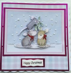 So Specialcards decoupaged House Mouse Christmas Card