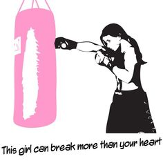 Fighting fit...This girl can break more than your heart.