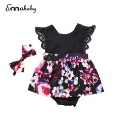 081af84c89a Matching Sister Romper Flower Dress and matching Headband