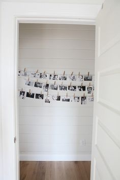 Clothes Line for Pictures.. love the black and white