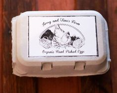 Custom Personalized Egg Carton Stamp  Chicken Egg Carton