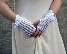 Пион - вязаные кружевные открыт работа свадебный свадебные рукавицы запястья обогреватели манжеты