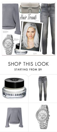 """""""Hair Trend"""" by mycherryblossom ❤ liked on Polyvore featuring Bobbi Brown Cosmetics and Current/Elliott"""