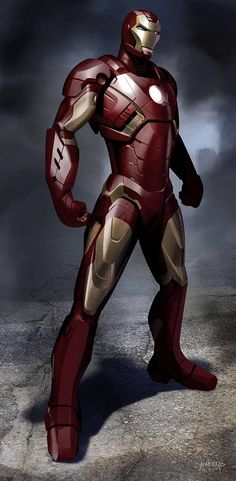 Iron Man concept art, by Phil Saunders.