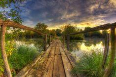 The old wooden bridge by Boris Frkovic, via 500px
