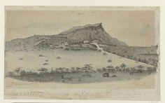 Gezicht op de plantage Plantersrust op Curaçao, Jacob Hendrik van de Poll, 1862
