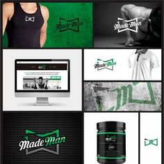 Made Man - Create a winning visual identity for a men's fitness brand Target Market: 30 year-old male with disposable income. He is an exercise, sports and fitness fanatic. Fitness Brand, Men's Fitness, 30 Years Old, Visual Identity, Logo Inspiration, Marketing, Target, Create, Exercise