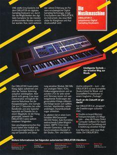 "Emulator II...""Die Musikmaschine""..1985 Advertisement"