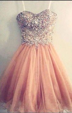 #champagne  #tulle #short #shortpromdress  #homecomingdress #cocktaildresses…