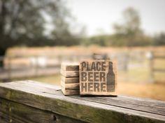 Rustic Pallet Wood Beer Coaster Set by RedWolfRustics on Etsy https://www.etsy.com/listing/482124390/rustic-pallet-wood-beer-coaster-set