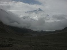 Tibet, south-west, Mount Everest from the base camp