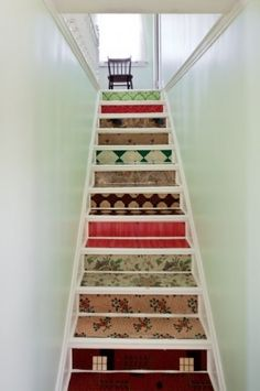 Colourful stair risers are my new 'if I had more money and time' thing.