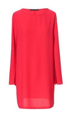 Zara DRESS WITH CAPE SLEEVE