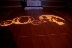 Disney wedding - Cinderella dance floor gobos  (i think this is just an amazing idea!)