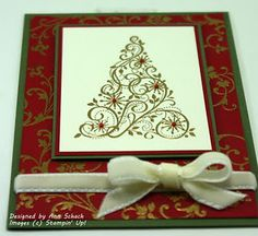 Snow Swirled, Elements of Style, Gold Embossing Powder