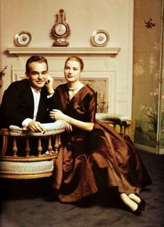 A charming shot of Prince Ranier and Princess Grace of Monaco