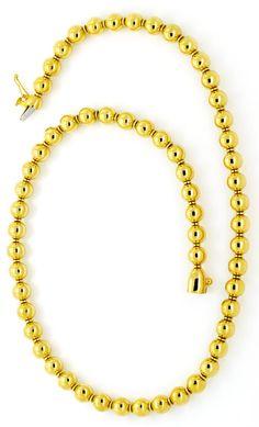 Foto 3, Designer Kugelkette, Goldkette Gold-Kugeln, 750, Luxus!, K2127