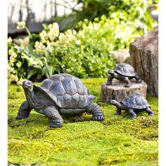 Garden Statues Turtle Tortoise Family Yard Art Patio Landscape Decor 3 PC Resin This adorable torto. Resin Garden Statues, Garden Sculptures, Wooden Pathway, Obelisk Trellis, Garden Trellis, Baby Tortoise, Tortoise Turtle, Outdoor Statues, Yorkshire Terrier Puppies