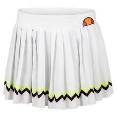 Women`s Contender Tennis Skort White Tennis Skirt, White Skort, Tennis Skort, Tennis Wear, Brazilian Women, Yellow Chevron, Types Of Skirts, Tennis Clothes, Ellesse