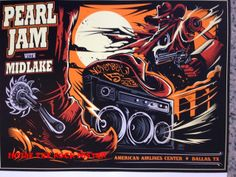 Pearl Jam Dallas Poster by Dayne Henry World Premiere Exclusive