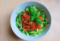 Zucchini noodles with sunny tomato sauce // by Tasty Ginger Tales