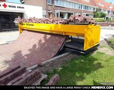 Brick laying machine from the Netherlands.