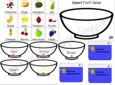 Attribute Fruit Salad! Teach attributes using this great game!