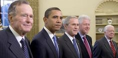 He's a unifier, alright.   all 5 presidents oppose trump.  i don't blame the bushes tho. trump smeared them.