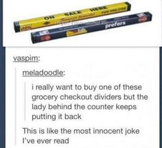 The world's most innocent joke: