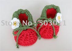 30pairs, zapatos de bebé hechos a mano del ganchillo, ganchillo hizo punto los zapatos de bebé, calzado