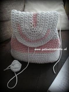 Háčkovaný ruksak - návod - Bobbiny Crochet Hats, Blanket, Blog, Diy, Backpacks, Knitting Hats, Bricolage, Blogging, Do It Yourself