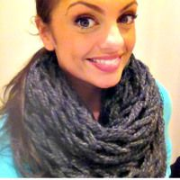 Finger Knit Infinity Scarves - @Aimee Martell