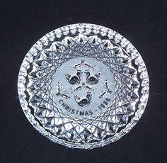 Vintage Waterford Crystal Christmas Plate 1986 by FairfaxDavis