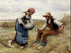Le peintre Julien DUPRE