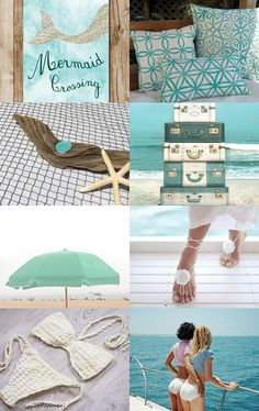 Mermaid Crossing by Annie on Etsy--Pinned with TreasuryPin.com