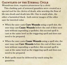 Gauntlets for my frontline Cleric, balancing ideas? - Imgur