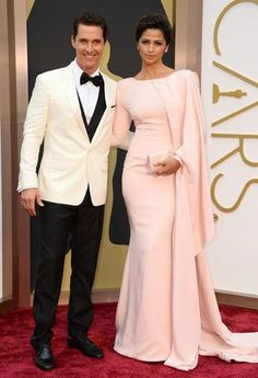 Mathew McConaughey and Camila Alves arrive at the 86th annual Academy Awards.---LoveCrossesBorders