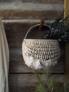 This basket was loved enough to be repaired....must be a favorite!