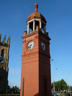 Bolton Station Clock Tower some of my relatives live in Bolton today.