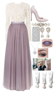 """""""BabyDoll Is Classic"""" by willow-wonder ❤ liked on Polyvore featuring A.L.C., Needle & Thread, Dolce&Gabbana, MICHAEL Michael Kors, EWA and Jeffree Star"""