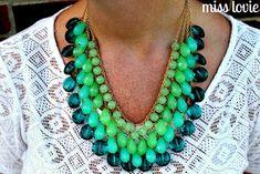 Miss Lovie: Ombre Necklace Tutorial