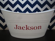 Personalized Valentines Basket Bucket Pail by TheInitialGift
