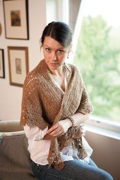 Scallops and Shells Shawl Pattern - Knitting Patterns by Michele DuNaier