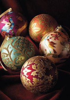 Regency Damask Ornaments