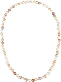 Belpearl Long Multicolor Akoya & South Sea Pearl Necklace m6z7d2QOq