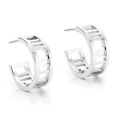 Accent your look with these delicate hoops boasting sterling silver plated finish and sleek design to finish your ensemble with class.      0.5'' W x 0.25'' L  Sterling silver-plated base metal  Imported   | Shop this product here: http://spreesy.com/hollywoodsensation/50 | Shop all of our products at http://spreesy.com/hollywoodsensation    | Pinterest selling powered by Spreesy.com