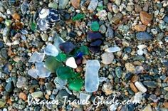 Sea glass on Vieques....  collected some of my own on sea glass beach a few days ago.